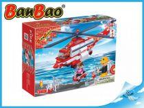 BanBao stavebnice - Fire - hasičský vrtulník 272ks + 3 figurky ToBees