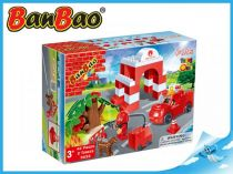BanBao stavebnice - Fire - Young Ones - hasičská stanice 42ks + 2 figurky ToBees