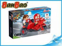 BanBao stavebnice - Transportation - motocykl se sajdkárou 46ks + 2 figurky ToBees
