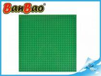 BanBao stavebnice - základní deska 26x26cm zelená