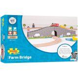 Dřevěné hračky Bigjigs Rail Farma most s tunelem