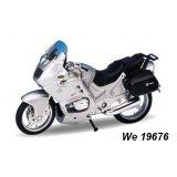 Welly - Motocykl BMW R1100RT model 1:18 stříbrná