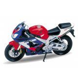Welly - Motocykl Honda CBR900RR Fireblade model 1:18 modročervená