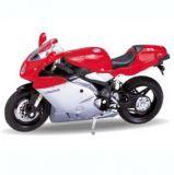 Welly - Motocykl MV Agusta F4S model 1:18 červená