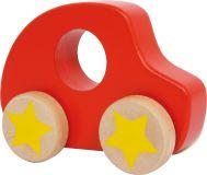 Small Foot Dřevěné autíčko červené s hvězdou