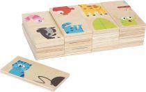 Small Foot Dřevěné domino zvířátka