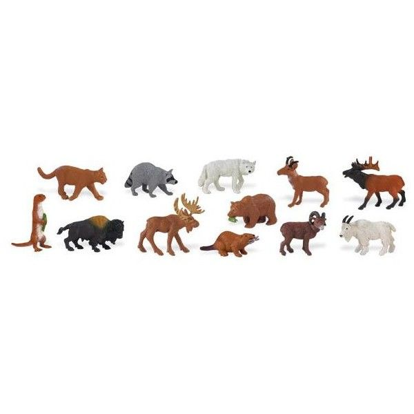 Dřevěné hračky Safari Zvířata Severní Ameriky 48 kusů Safari Ltd