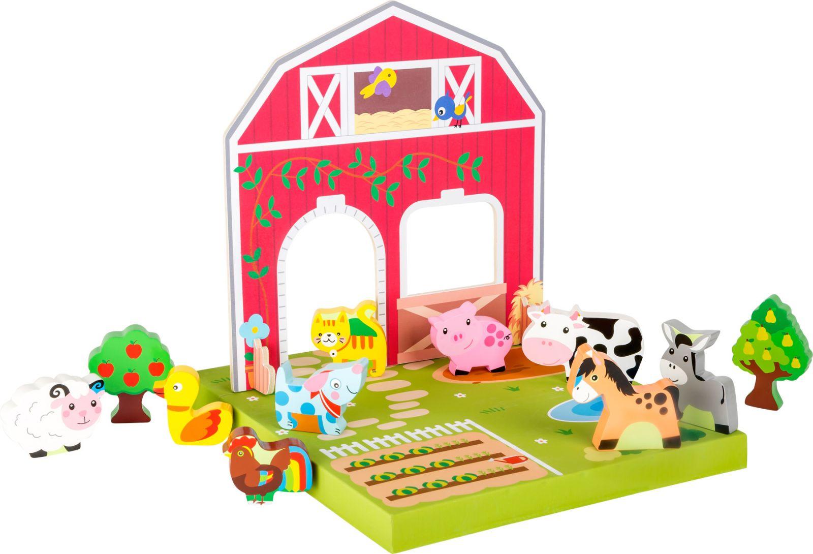 Dřevěné hračky Small Foot Dřevěná hračka farma se zvířátky Small foot by Legler