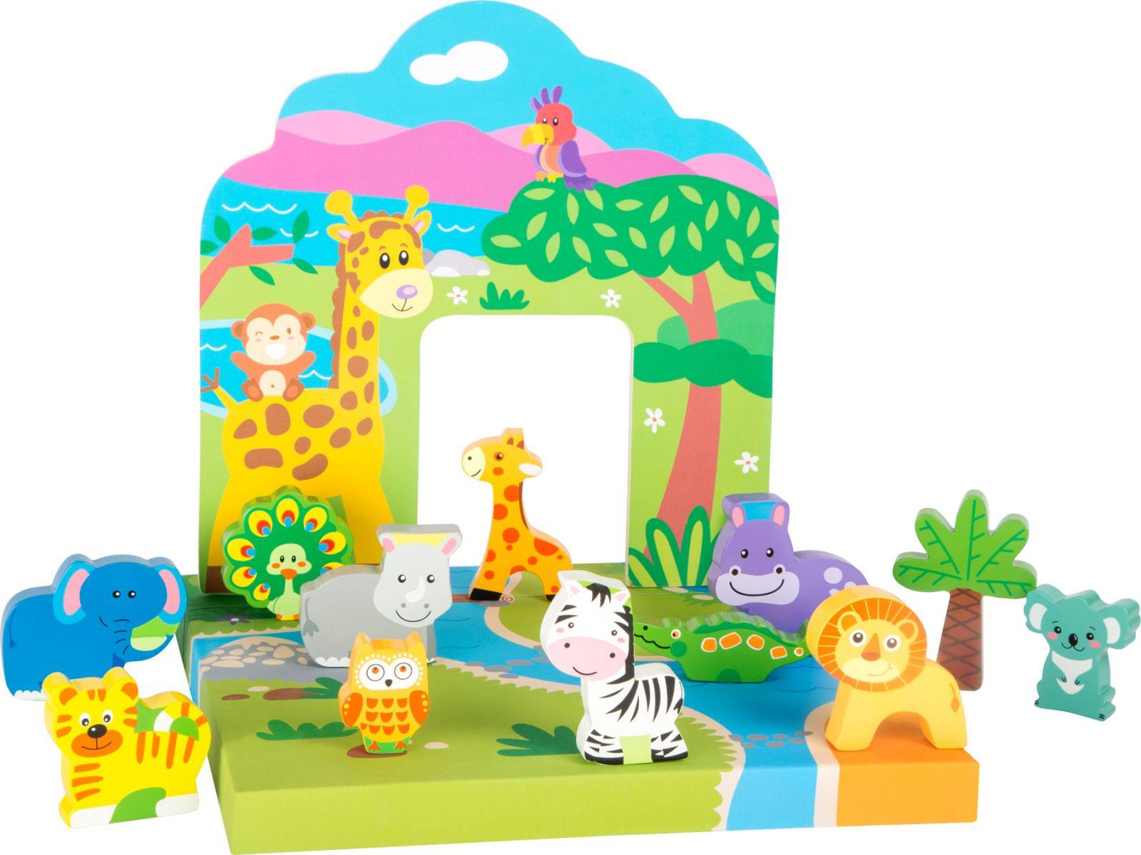 Dřevěné hračky Small Foot Dřevěná hračka zvířátka ze ZOO Small foot by Legler