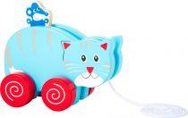Small Foot Dřevěná tahací kočka s  myší