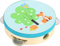Small Foot Dřevěná tamburina s lištičkou