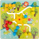 Small Foot Dřevěné posuvné puzzle Savana