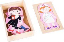 Small Foot Dřevěné puzzle dívčí sen povolání