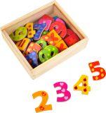 Small Foot Dřevěné barevné magnetické číslice 40ks