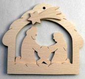 Dřevěné dekorace - Svicen betlém z bukového dřeva