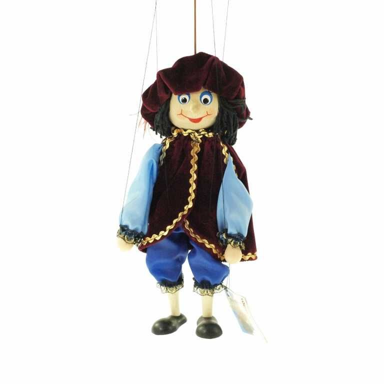 Dřevěné hračky Dřevěné velké loutky - Princ Česká dřevěná hračka