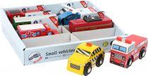 Small Foot Displej dřevěné dopravní prostředky 8 ks