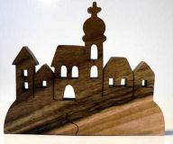 Dřevěné dekorace - dřevěný svícen - Městečko ov.dřevo