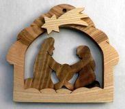 Dřevěné dekorace - Svícen betlém ovocné dřevo
