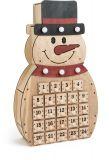 Small Foot Dřevěný adventní kalendář sněhulák