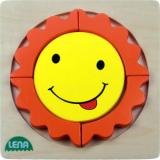 Lena Dřevěné puzzle sluníčko