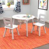 Set - Stůl a 2 židle bílošetý
