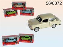 Welly - Trabant 601 1:34 s bílou střechou zelená