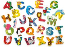 Dřevěná abecedy 1ks - písmenko D