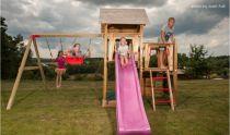 Dřevěné hračky Dřevěné dětské hřiště - MATÝSEK se skluzavkou a houpačkou