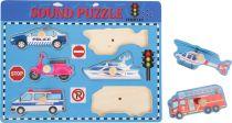 Dřevěné puzzle se zvuky - Doprava