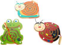 Magnetický labyrint zvířátka 1 ks šnek