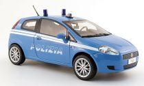 Welly - Fiat Grande Punto model 1:43 policie modrý