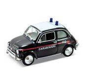 Welly - Nuova Fiat 500 model 1:43 záchranáři černé