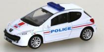 Welly - Peugeot 207 model 1:43 policie bílé