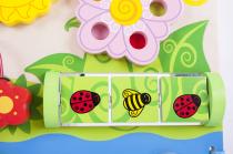 Dřevěné hračky Bigjigs Baby Dřevěná motorická deska květy Bigjigs Toys