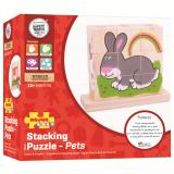 Dřevěné hračky Bigjigs Baby Nasazovací kostky zvířátka Bigjigs Toys