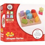 Dřevěné hračky Bigjigs Baby Dřevěné kostky tvary a barvy Bigjigs Toys