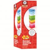 Dřevěné hračky Bigjigs Baby Dřevěná motorická věž s číslicemi Bigjigs Toys