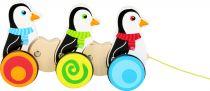 Small Foot Dřevění tahací tučňáci