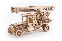 Ugears 3D dřevěné mechanické puzzle UGM-11 Náklaďák s požárním žebříkem