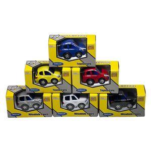 Dřevěné hračky Welly - Autíčka na natahování 4 druhy žlutá